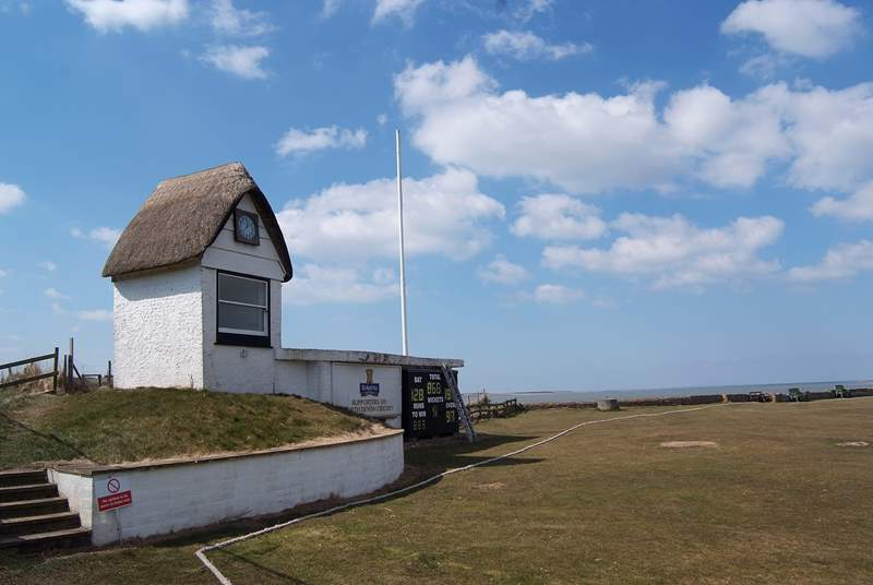 The Instow Cricket Club is a stone's throw from the cottage. This must be the best location to watch a summer match!