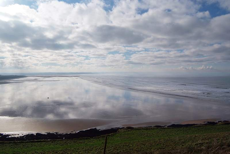 This is the seemingly endless beach at nearby Saunton Sands.