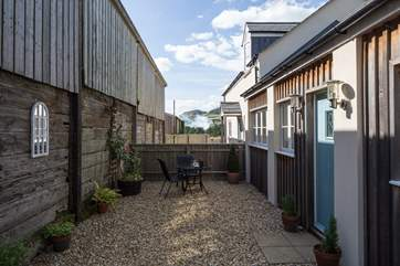 Another view of the sheltered patio area.