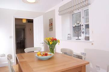 This photograph shows the interior link for The Parlour and The Linhay (2661) if guests wish to book the two cottages together.