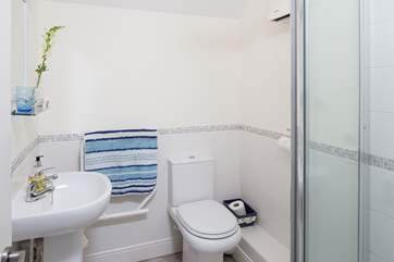 The family shower room is on the first floor, but there is also a useful cloakroom downstairs.