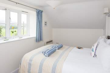 Another view of the bedroom with its stunning view.