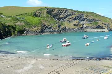 Port Isaac is a thriving fishing village.
