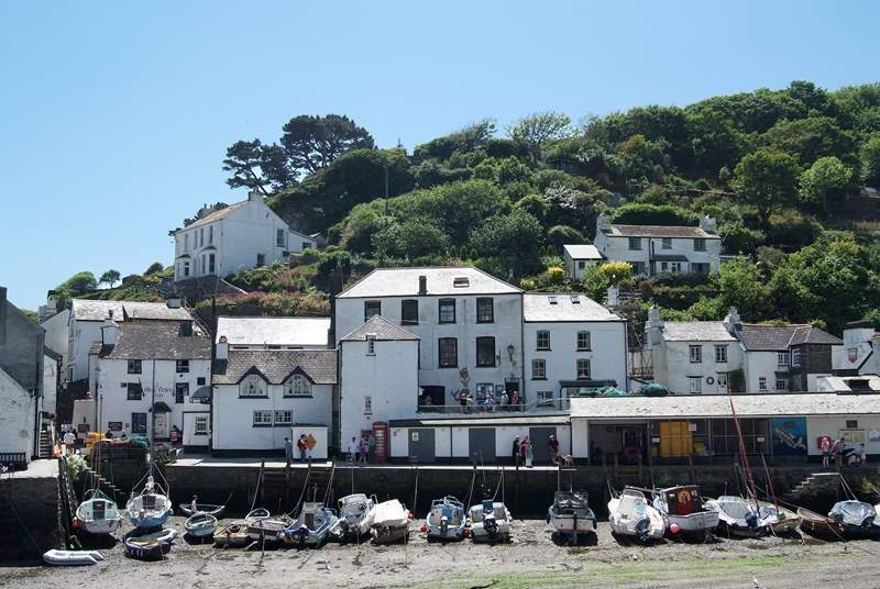 Low tide in Polperro harbour.