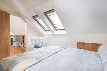 There are blinds on the Velux windows.