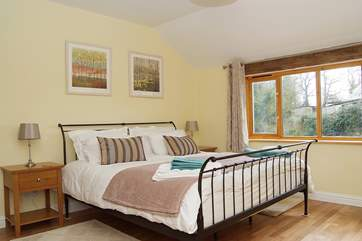 The romantic, large and spacious master bedroom boasts an en suite shower-room along with a 6' bed (Bedroom 1).