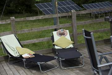 Two sun loungers are provided so that you can relax and enjoy the countryside views.