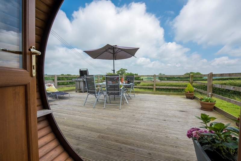 There are fabulous views from the huge decked area which is fully enclosed too.