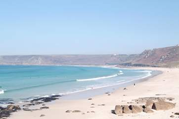 Sennen Cove is a great place for a day on the beach.