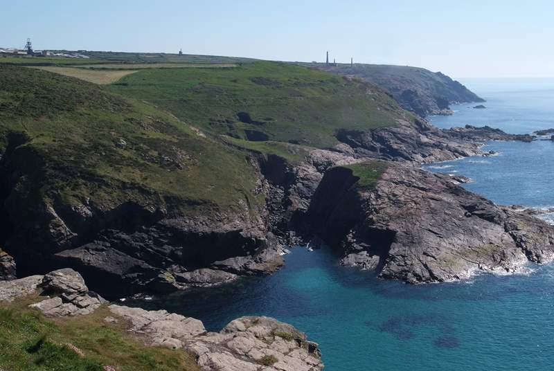 The coastal path nearby takes you along these stunning cliffs.