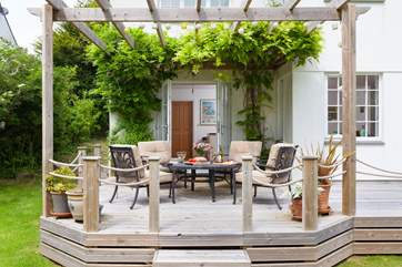 The gorgeous decked area.