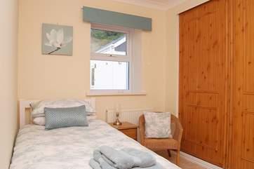 The ground floor single bedroom (Bedroom 2).