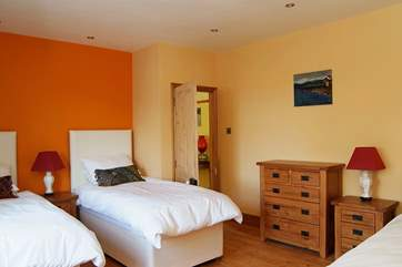 Bedroom 4 has versatile 'zip and link' (double or twin) beds as well as an extra single bed.