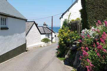 The road leading into the village from the St Keverne side.
