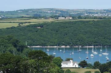 A view of the Helford River from up above the little village of Helford.