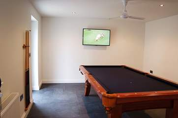 Part of the annexe is a games-room with pool table and wide screen TV.
