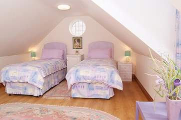 This is the light and airy twin room.
