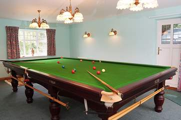 There is a full-size snooker table for adults to use. Just ask the Owner.