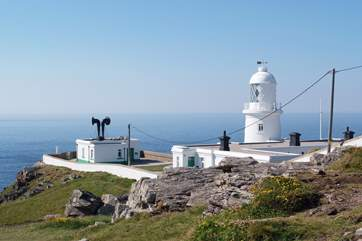 Pendeen Lighthouse is along the nearby coastal path.