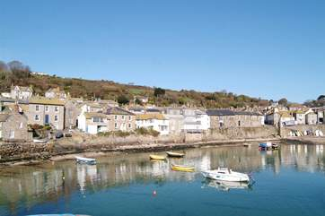 Mousehole Harbour is nearby.