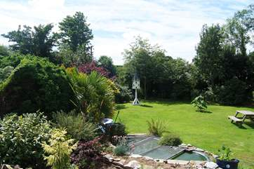 Looking towards the Owners' garden (guests are welcome to look around).