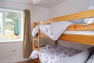 The bunk bedroom (Bedroom 3) is ideal for children.
