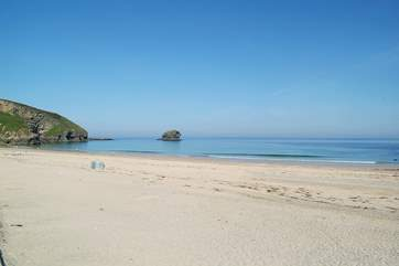 Portreath beach on a beautiful, quiet spring day!