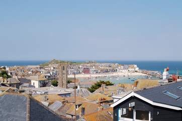 Picturesque St Ives is about half an hour away by car.