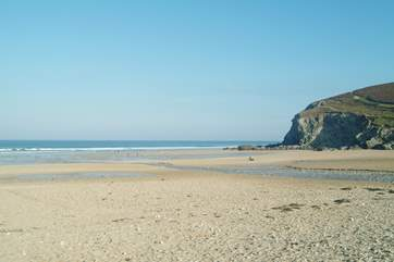 Sandy Porthtowan beach is just a few minutes' drive from Downalong.
