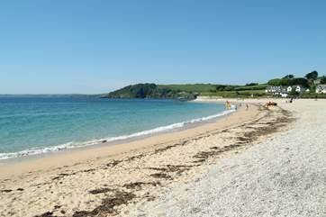 Another of Falmouth's beaches - Gyllyngvase - has a renowed bistro cafe right on the sand.