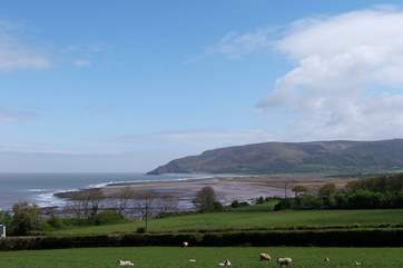 There is a stunning coastline where Exmoor meets the sea - this is the view from Porlock Weir.