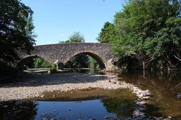 This is the bridge at Exebridge a short walk from the cottage! There is a lovely pub here too, as well as fishing lakes to try your hand at fly fishing.