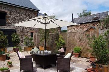 The Watermill has a lovely sheltered courtyard with lovely planting to make it feel private. The overall courtyard is enclosed and you have use of this dedicated half of it.