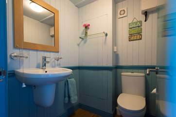 Your own en suite cloakroom with flushing toilet and wash-basin with hot and cold water!