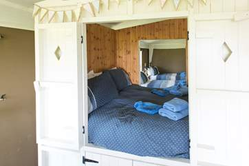 The lovely double cabin bed.