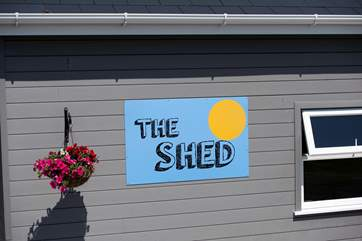 The Shed is handily situated behind the tents.
