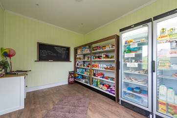 The honesty shop is stocked full of goodies for your stay.