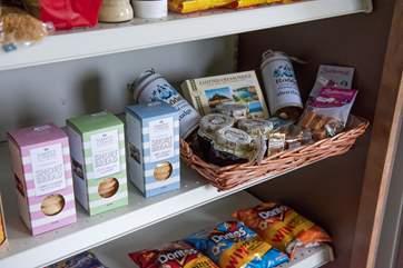 Lots of yummy Cornish treats on offer.