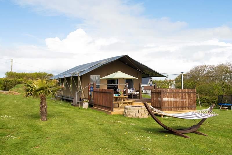 The lovely Bluebell Safari Tent.