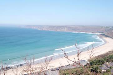 Dramatic Sennen Cove is just over five miles away.
