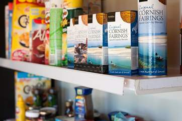 There are plenty of Cornish goodies on offer.