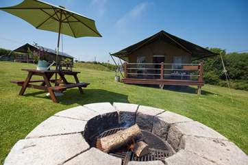 How about toasting some marshmallows on the fire-pit?