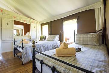 Looking from the twin bedroom towards the cabin bed.