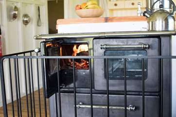 The wood-fired range doubles up as your heating and cooking appliance - perfect for rustling up those morning fry ups.