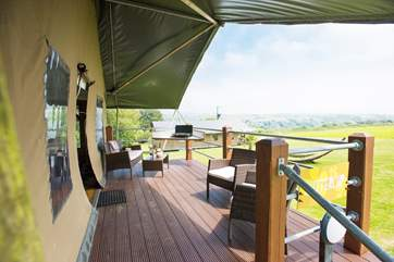 Relax on the deck with a glass of wine or two.