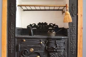 The lovely old (ornamental) Cornish range in the kitchen.