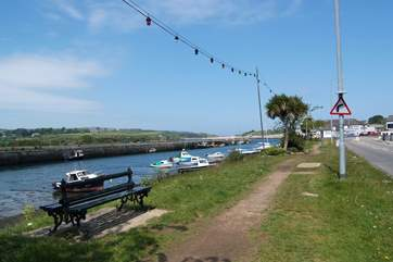 From the cottage, it is an almost level walk along the river back towards the town....
