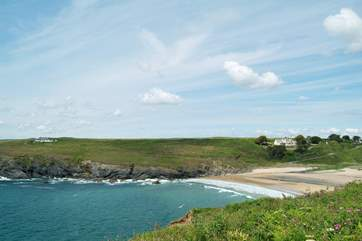 Popular with surfers, Poldhu Cove is just a mile or so outside the village.
