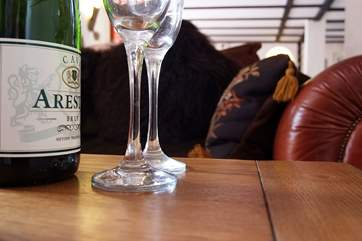 Relax with a glass or two in one of the comfy chairs or sofas.