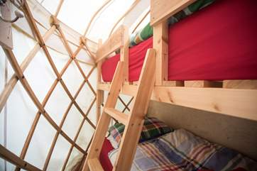 Children will love the full-size bunk-beds. Who's on top?!
